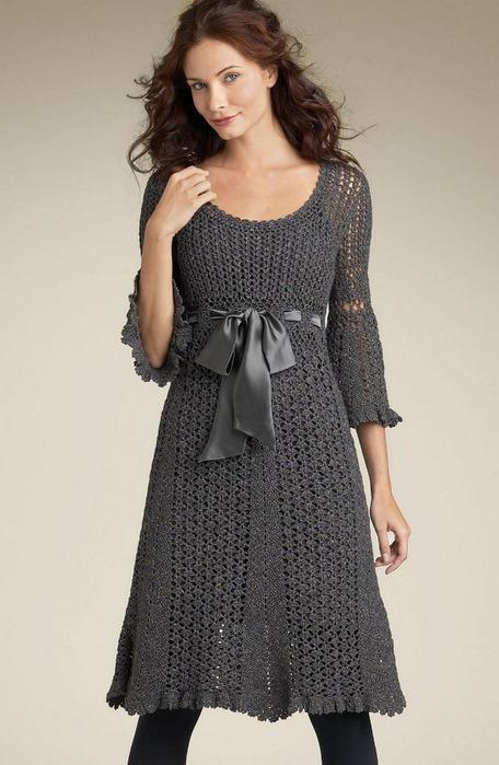 Платья, сарафаны спицами и крючком,вязание онлайн.