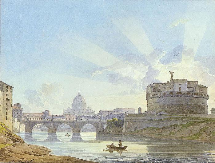 791px-Alexander_Brullov_-_Castel_Sant'Angelo_in_Rome (700x530, 95Kb)