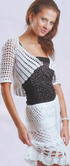 вязаные юбки крючком со схемами.