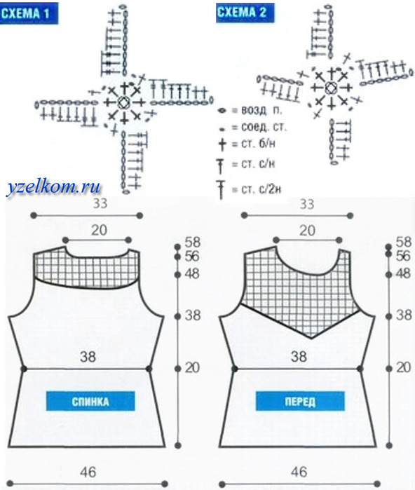 схемы детского пледа крючком на выписку