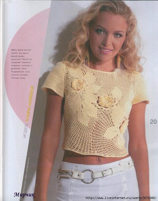 Блог.ру - pynsha - Пуловеры крючком.  Подборка.