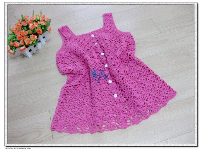 Связать красивые платья для девочки крючком+схемы.