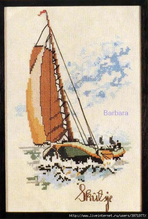 Вышивка крестом корабли 1 - Dimensions, Anchor, Риолис 74