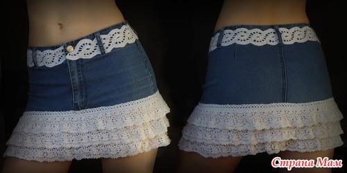 переделка юбки. переделка джинсов. delete_users. вязание. юбка.