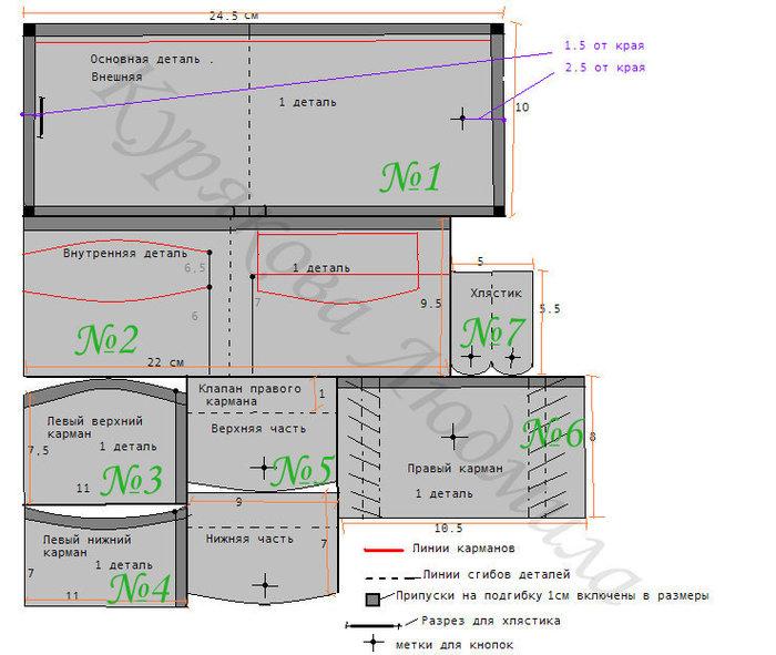 Размеры деталек даны в готовом виде, то есть с учётом припусков.