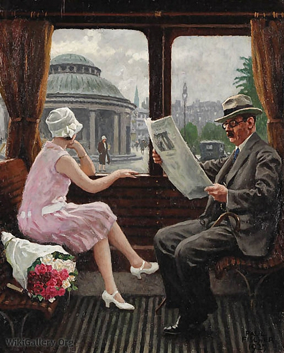 Paul Gustave Fischer In the train compartment (563x700, 320Kb)