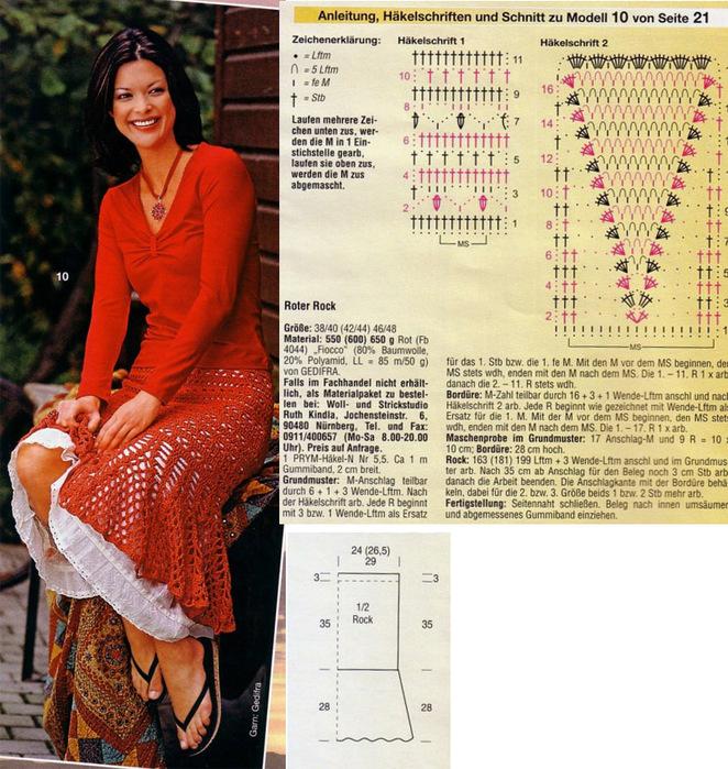 """Добавьте  """"Схема вязания юбки крючком .  Как связать юбку-годе."""