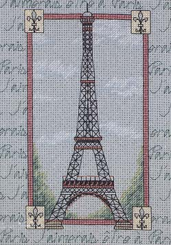 Эйфелева башня схема вышивка крестом.