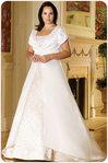 Свадебное платье для полных - фасон трапеция.
