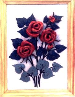 выкройка лепестков розы.