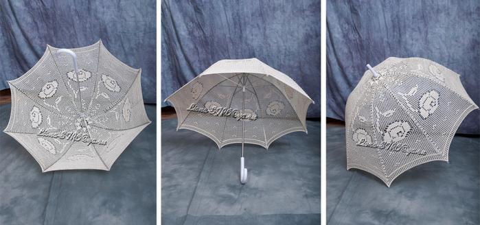 Зонтик, связанный крючком - Вязание.