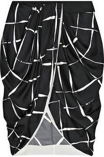 Описание: выкройка-лекало 50 размера юбки тюльпан.