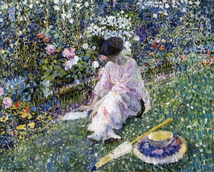 3. Garden in June, 1911 (700x563, 194Kb)