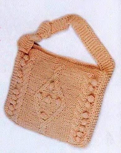 вязаная сумка с шишечками (390x491, 93Kb)