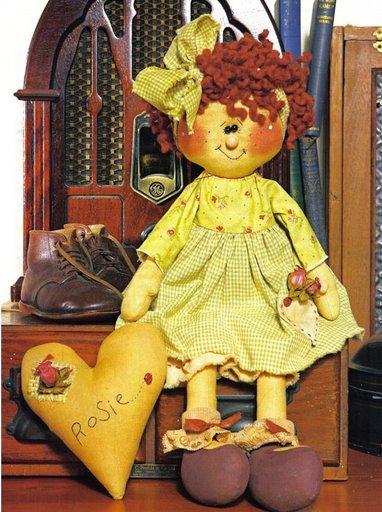 Примитивная кукла с сердечком - выкройка.
