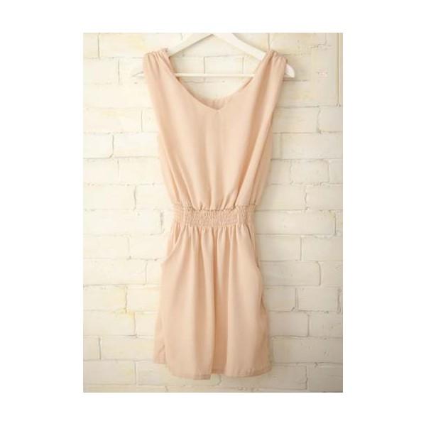 Описание: Персиковое платье из шифона - Интернет.