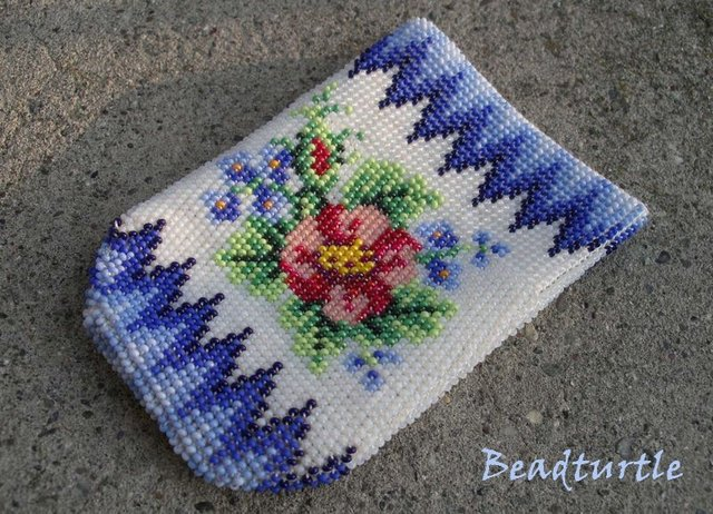 вязание бисером схемы сумочка