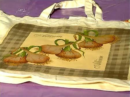 Декупаж на ткани Мастер класс по декупажу холщовой сумки. http.