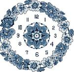 Превью Blue Flowers Clock (306x300, 31Kb)