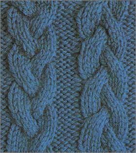 Пуловер, связанный спицами.  Модели. узор косичка.