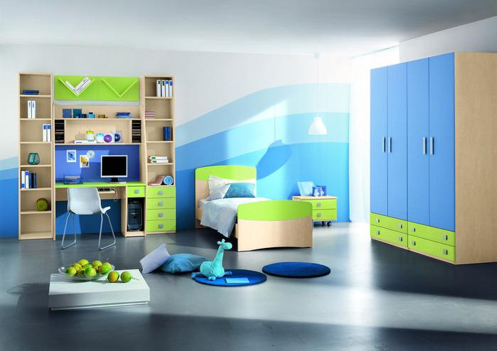 детские спальни для мальчиков.  Фото.