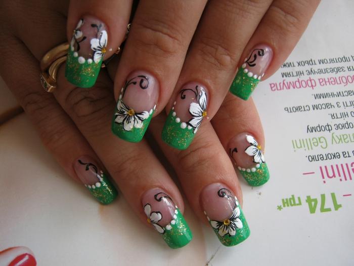 Маникюр с ромашками - фото идей дизайна ногтей - Best Маникюр 96