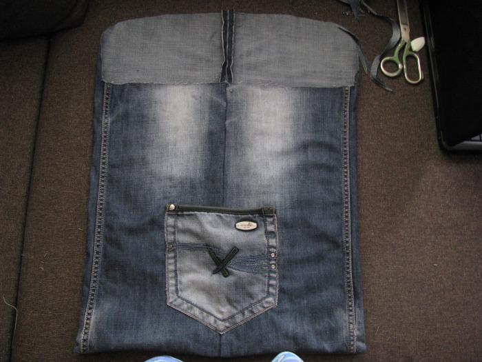 Мастер-класс: Сумка в машину из старых джинсов.