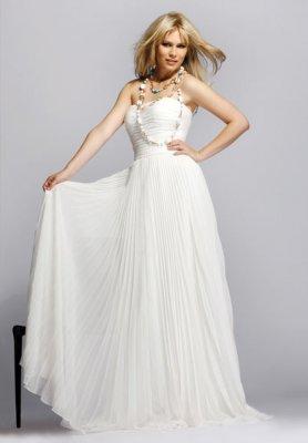 """Вечерние белые платья (15 фото)  """" Фото."""