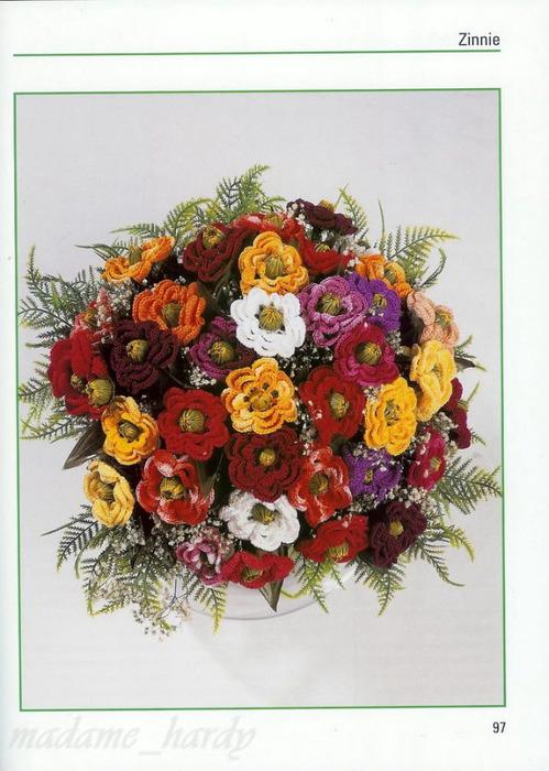 вязание цветы крючком.