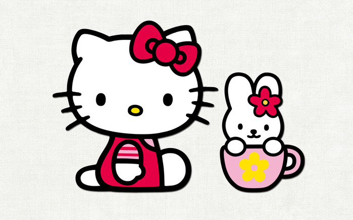 свой цитатник или сообщество!  Hello, Kitty.  Обои.  Первая пнж.