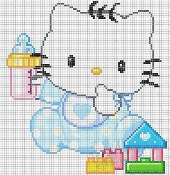 Hello Kitty - схемы вышивки крестиком Womenn.net - портал для женщин.