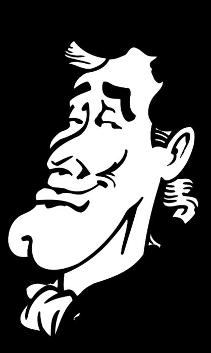Смешные рисунки людей черно белые