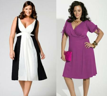 Мода для полных женщин существует.  Одежда разнообразна и красива.