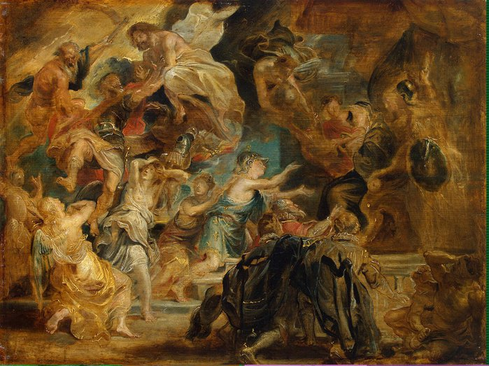 Rubens Pieter Paul - Death of Henry IV and the Proclamation of the Regency - GJ-514 (700x523, 106Kb)