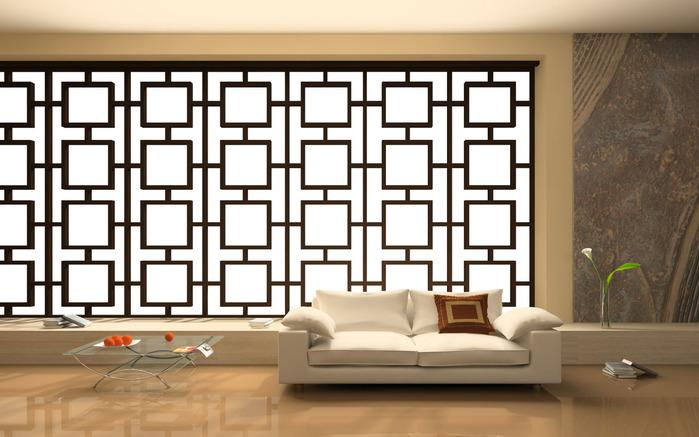 Интерьер современной комнаты, иллюстрация 232371 (c) Hemul / Фотобанк...