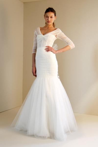 платье с рукавами фото.