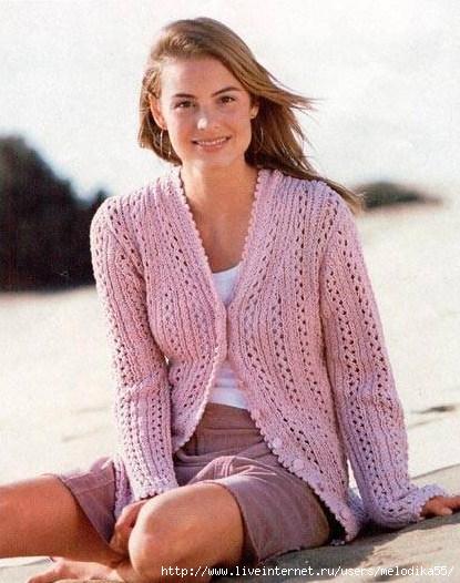 схемы вязания спицами летних кофточек.