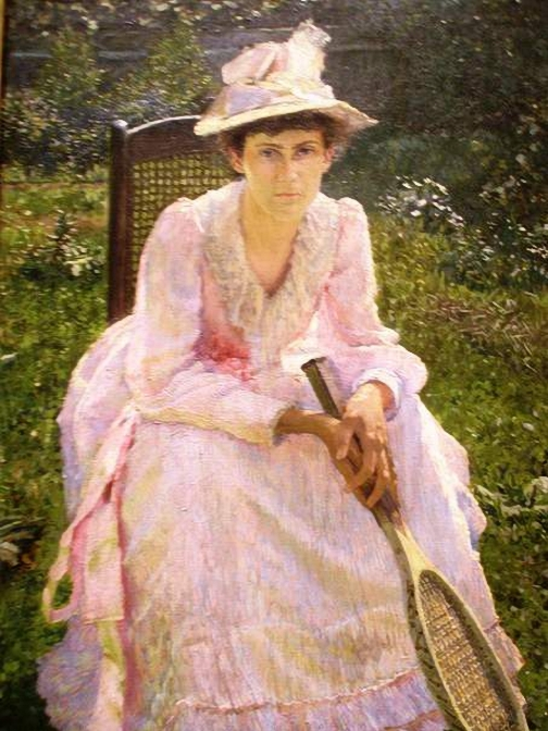 Otto Henry Bacher (American painter, 1856–1909) Portrait of Mary Holland (504x672, 278Kb)