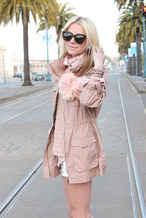 Стильное пальто (связанное крючком.