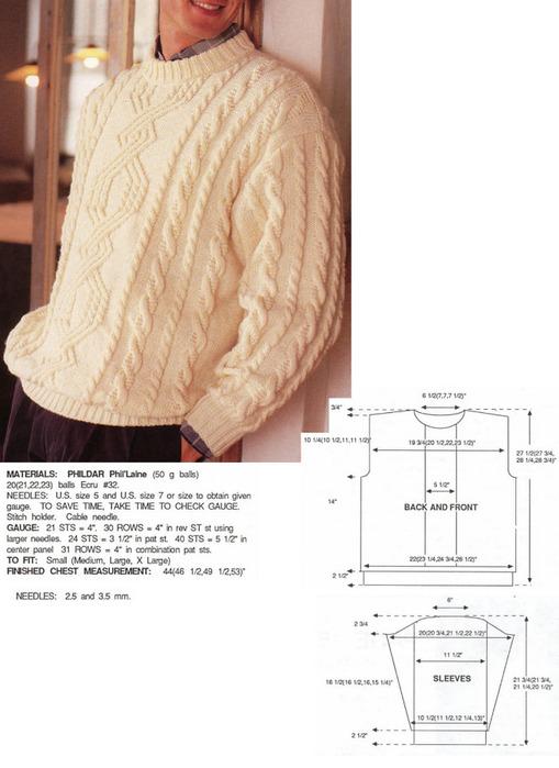 Вязаные мужские свитера.