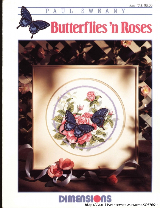 3937664_Dimensions_00205__Butterfliesn_Roses (537x700, 288Kb)