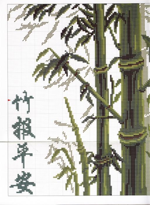 Схемы вышивки «бамбук» - Вышивка крестом 32