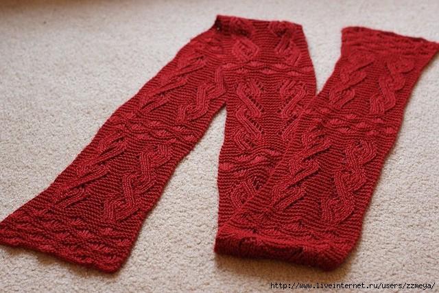 шарф хомут мужской схема вязания спицами