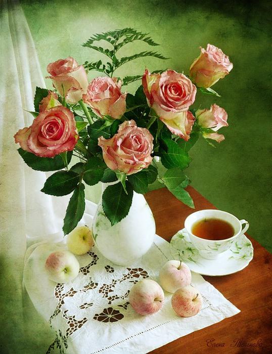 Открытка красивые розы с добрым утром, австралийские