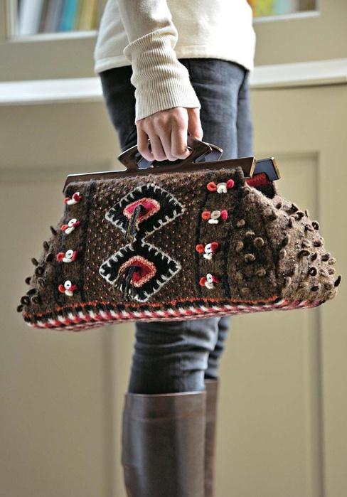 Рукодельницам: Одеваемся со вкусом. Вязаная сумка . Кройка, шитье, вязание - способы и приемы