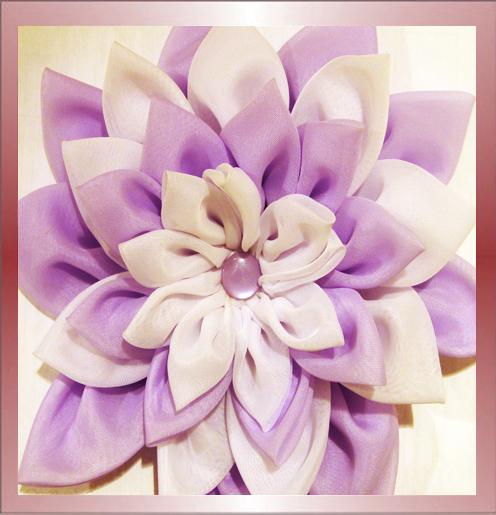 Цветы из органзы своими руками для штор - Самодельные