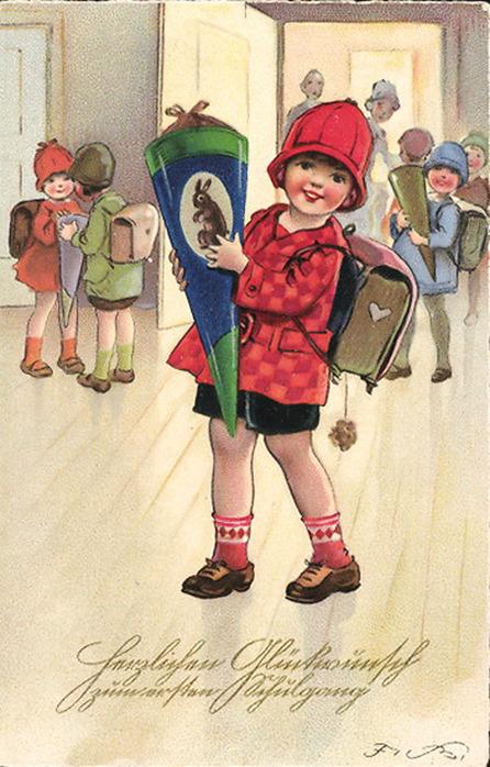 Немецкие открытки с о школой, языком смешная поздравительная