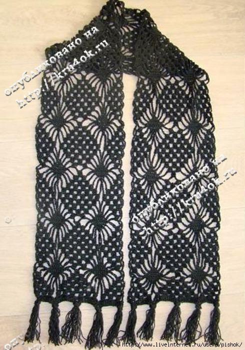 Рхема 11 - вязание шарфов мужских спицами схемы, туника вязанная.