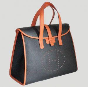 Сумка женская HERMES (22) черная с коричневым - Магазин модных...