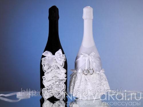 У Нас Свадьба - Свадебные приглашения и аксессуары Бархат Фотоальбом: Украшения для шампанского